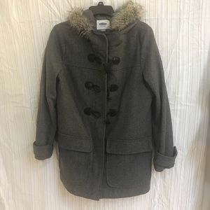 Old Navy Fur Trim Coat